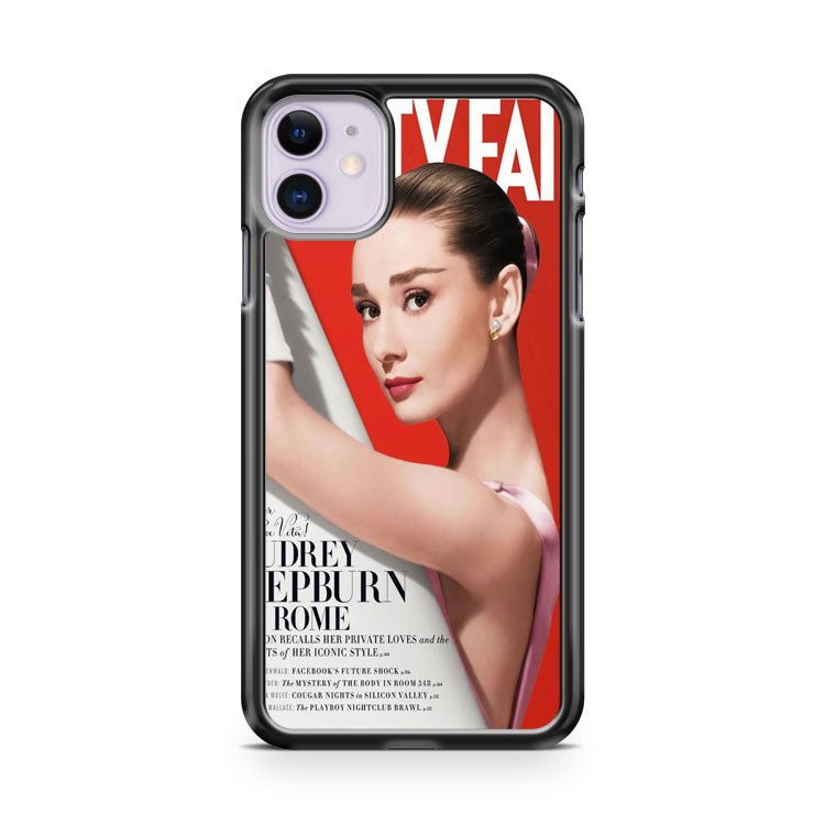 Audrey Hepburn Sexy News Paper iPhone 11 Case Cover | Overkill Inc.