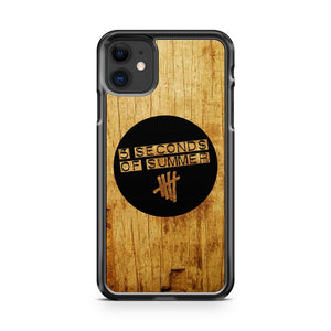 5 Seconds Of Summer Logo Wooden iPhone 11 Case Cover | Overkill Inc.