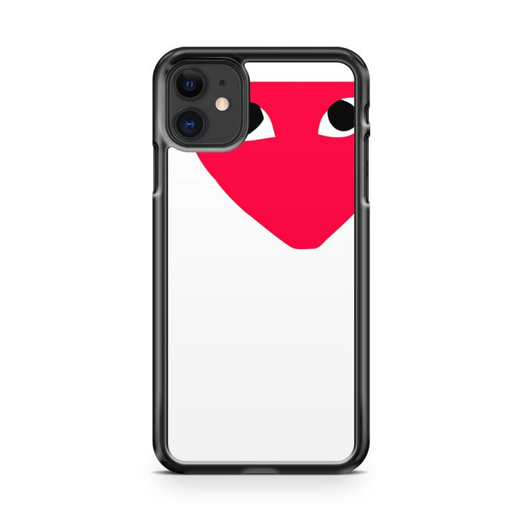 Comme De Garcons White iPhone 11 Case Cover | Overkill Inc.
