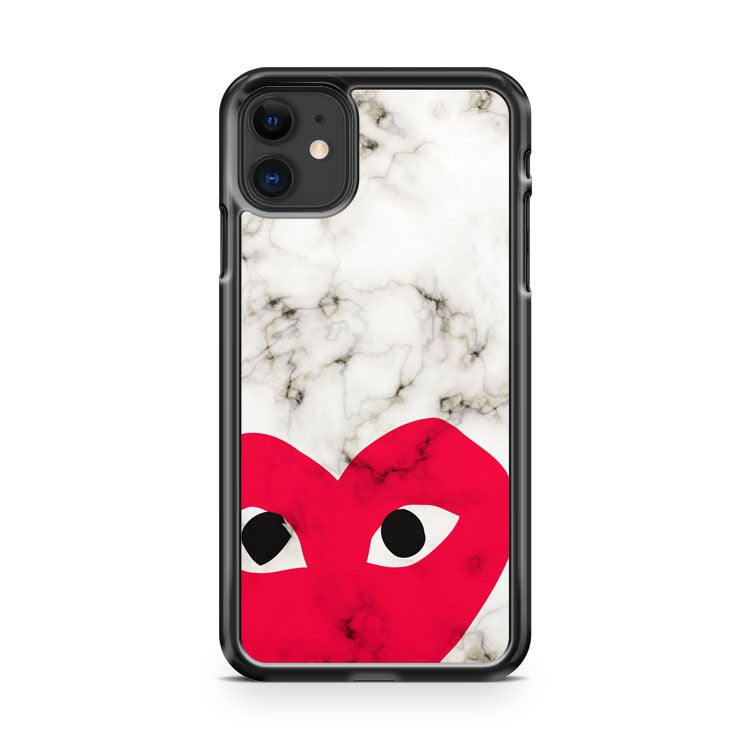 Comme Des Garcons White Marble iPhone 11 Case Cover | Overkill Inc.