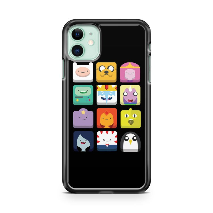 Adventure Time Characters Icon iPhone 11 Case Cover | Overkill Inc.