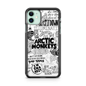 Arctic Monkeys Suck It And See Lyrics Typofraphy iPhone 11 Case Cover | Overkill Inc.