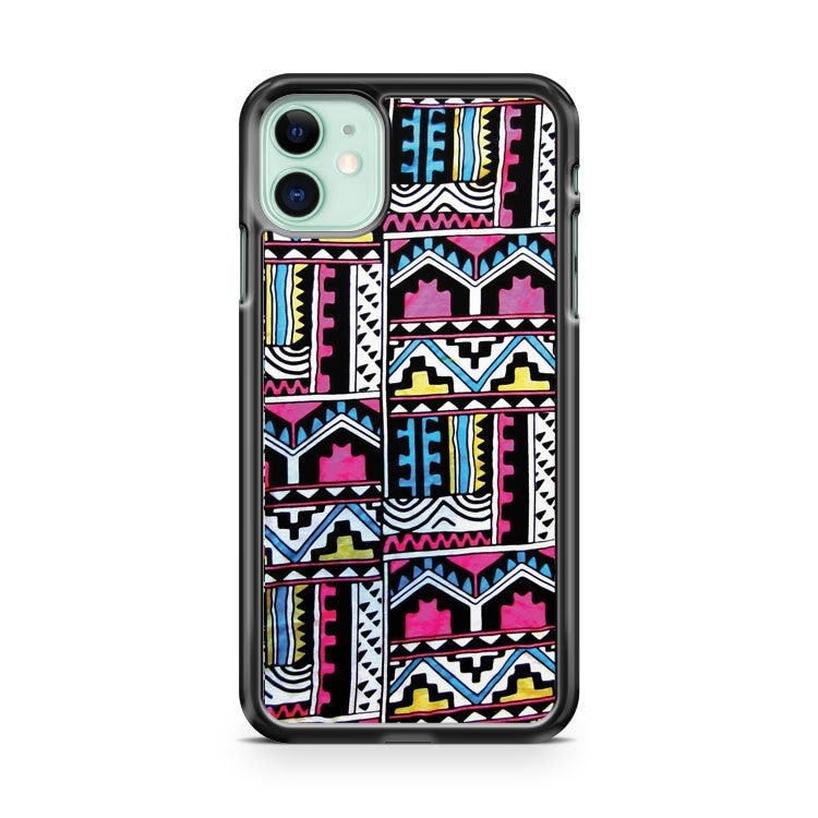 Aztec Pattern Print iPhone 11 Case Cover | Overkill Inc.