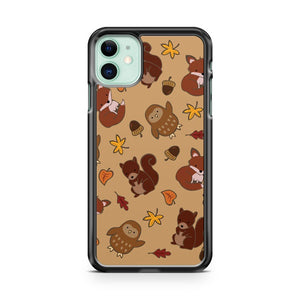 Cute Autumn Pattern iPhone 11 Case Cover | Overkill Inc.