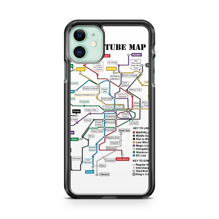 Geeks Tube Map iPhone 11 Case Cover