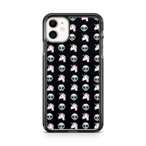Alien Unicorn Black Emoji iPhone 11 Case Cover | Overkill Inc.