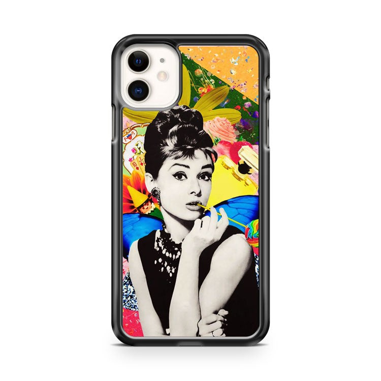 Audrey Hepburn Beautifull Art Painting Collage iPhone 11 Case Cover | Overkill Inc.
