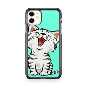 Cute Cat American Shorthair Happy iPhone 11 Case Cover | Overkill Inc.