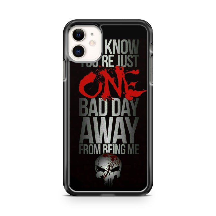 Daredevil Punisher Quotes iPhone 11 Case Cover | Overkill Inc.