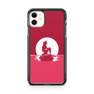 Disney Ariel The Little Mermaid Pink Silhouette iPhone 11 Case Cover