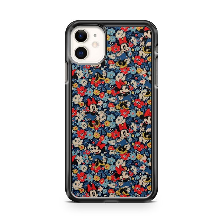 Disney Floral Pattern Minnie iPhone 11 Case Cover