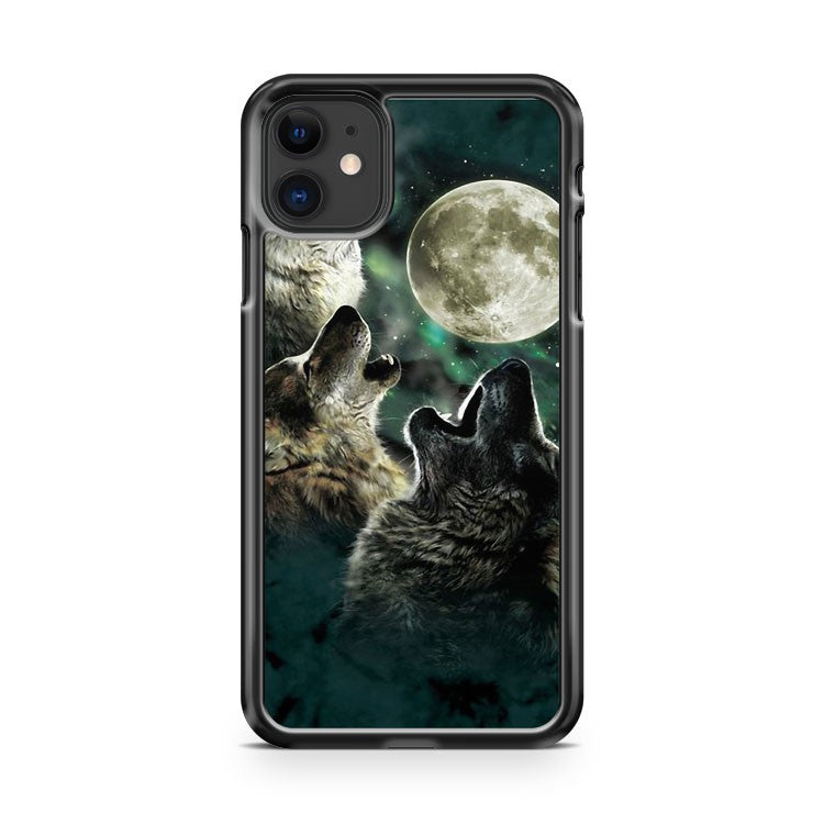3 Wolves Howling At Moon iPhone 11 Case Cover | Overkill Inc.