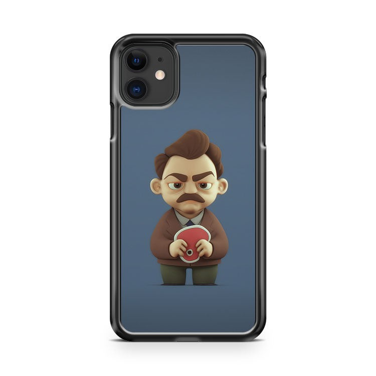 3D Version Of Ron Swanson Parks And Recreation iPhone 11 Case Cover | Overkill Inc.