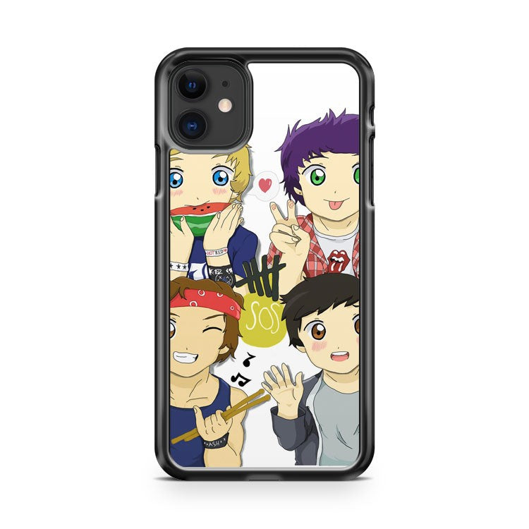 5 Seconds Of Summer Chibi iPhone 11 Case Cover | Overkill Inc.