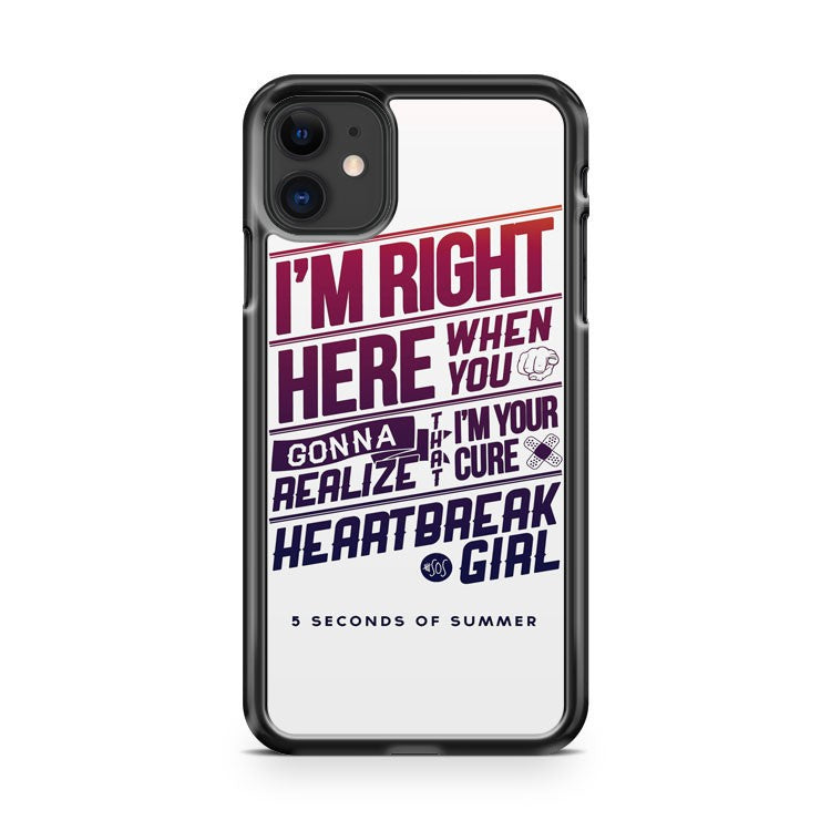 5 Seconds Of Summer Good Girl Quote iPhone 11 Case Cover | Overkill Inc.