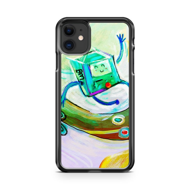 Adventure Time Bmo Skateboarding iPhone 11 Case Cover | Overkill Inc.