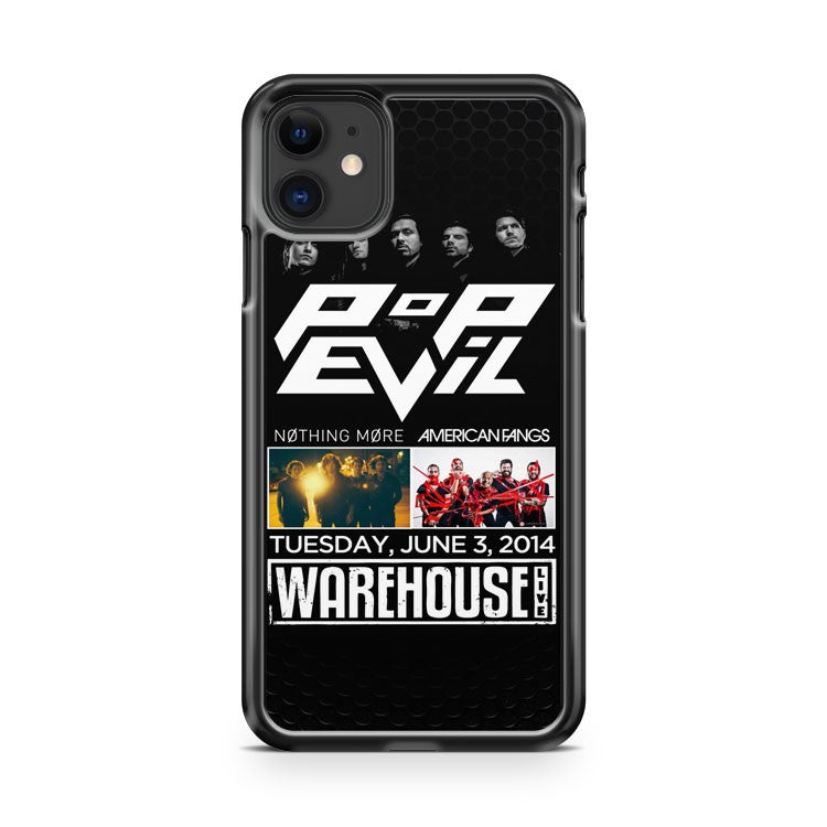 American Fangs Pop Evil Nothing More iPhone 11 Case Cover | Overkill Inc.