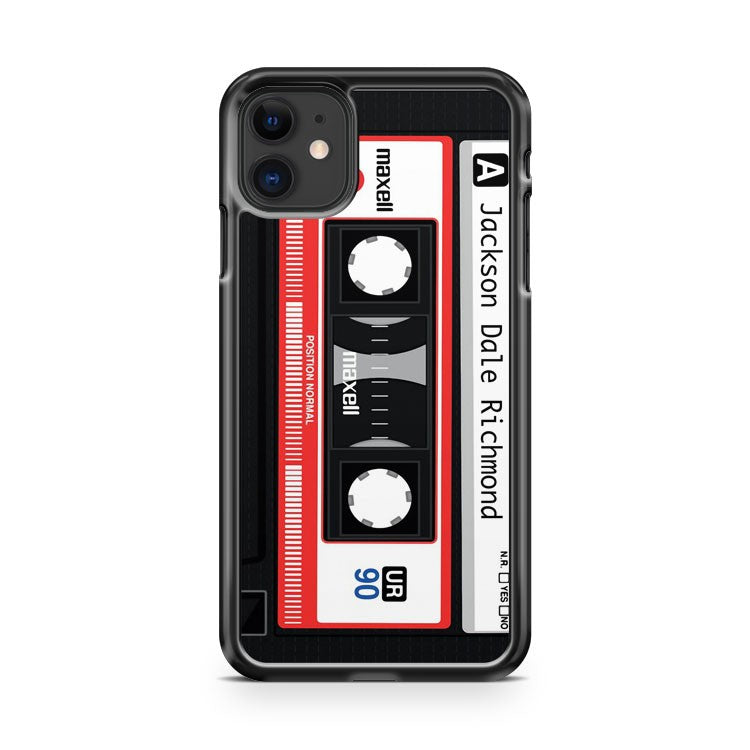 Custom Cassette Personalised Jackson Dale Richmond iPhone 11 Case Cover | Overkill Inc.