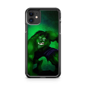 Disney Beast Transformation Hulk iPhone 11 Case Cover