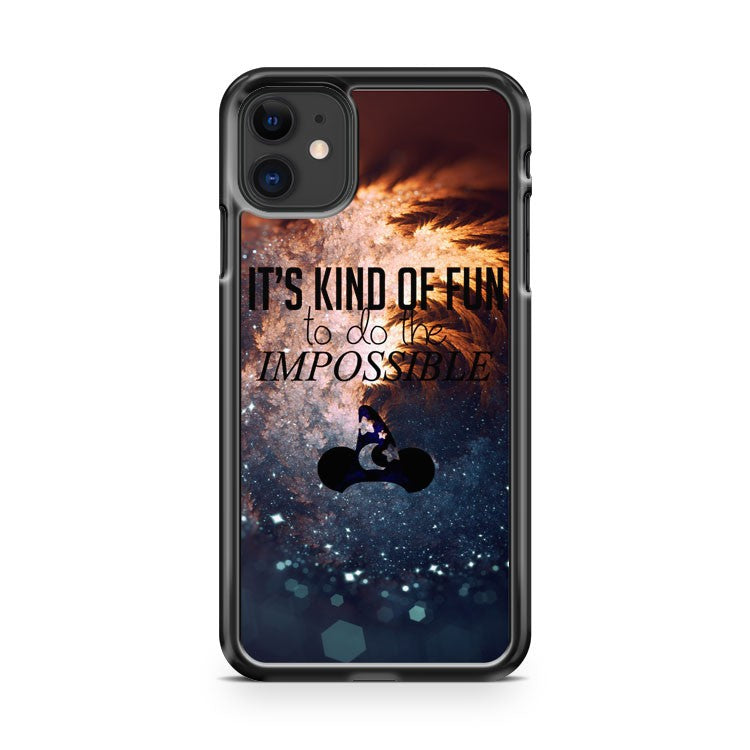 Disney Impossible Is Fun iPhone 11 Case Cover