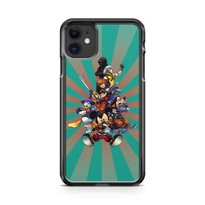 Disney Kingdom Hearts Group iPhone 11 Case Cover