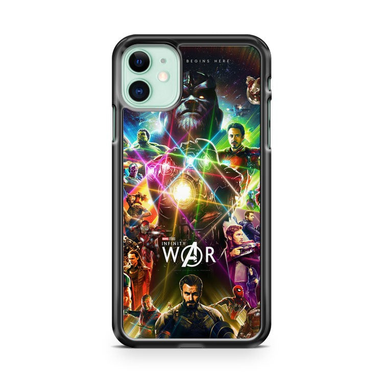 Avengers Infinity War Poster iPhone 11 Case Cover | Overkill Inc.
