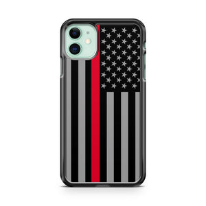 American Flag Thin Red Line Firefighter iPhone 11 Case Cover | Overkill Inc.
