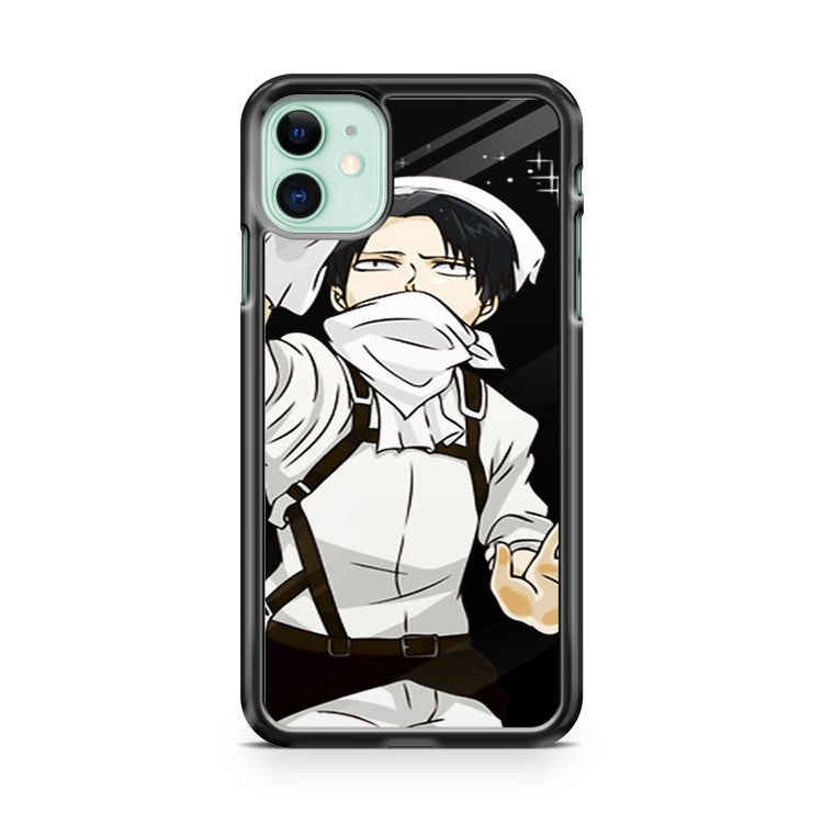 Attack On Titan Cleaning Levi iPhone 11 Case Cover | Overkill Inc.