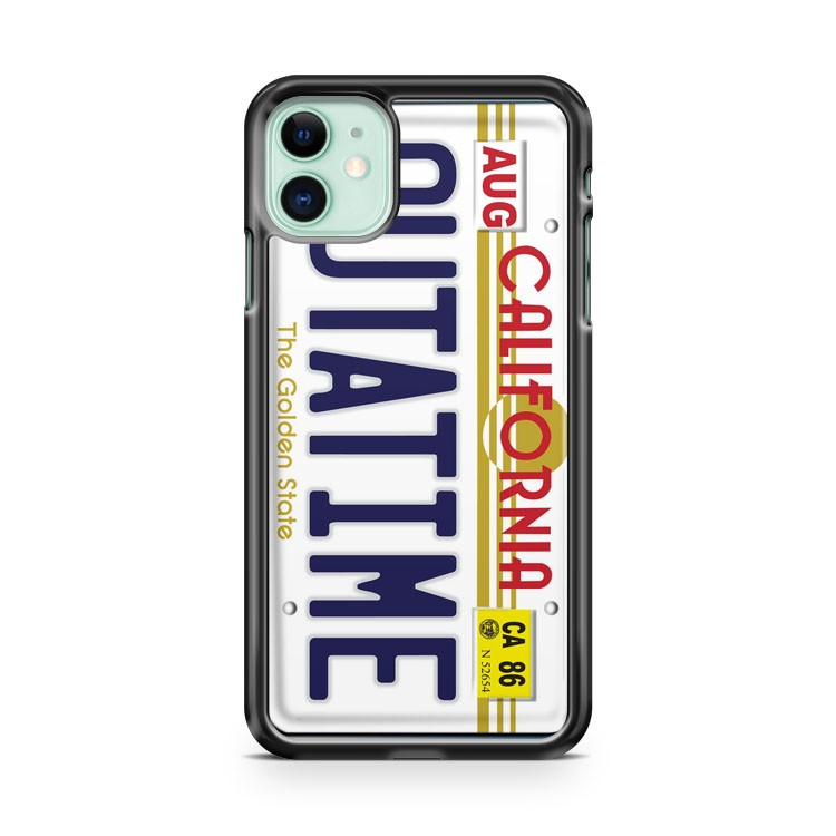 Back To The Future Delorean License Plate iPhone 11 Case Cover | Overkill Inc.