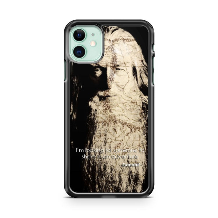 Gandalf The Hobbit Quotes Map Face iPhone 11 Case Cover