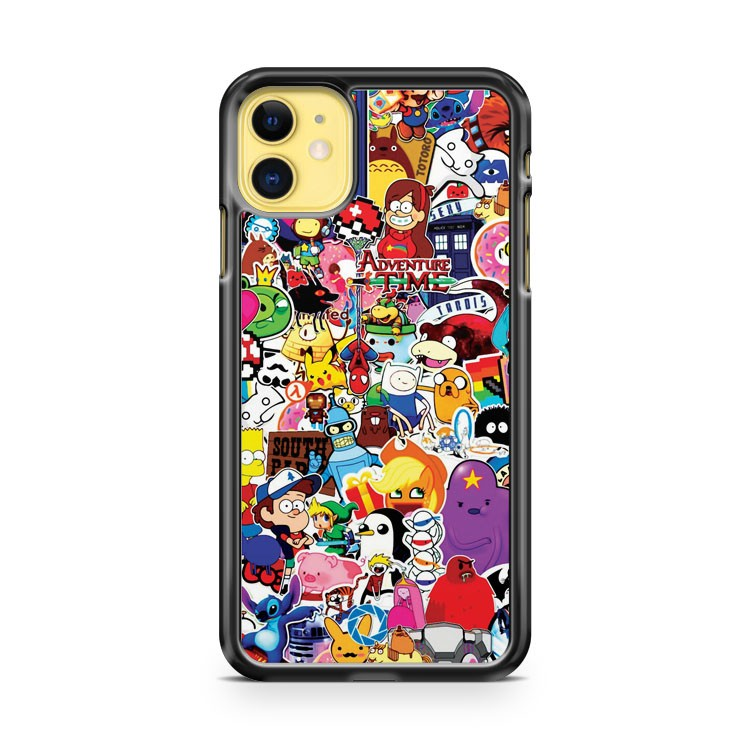 A Set Of Posters And Stickers Of Cartoon iPhone 11 Case Cover | Overkill Inc.