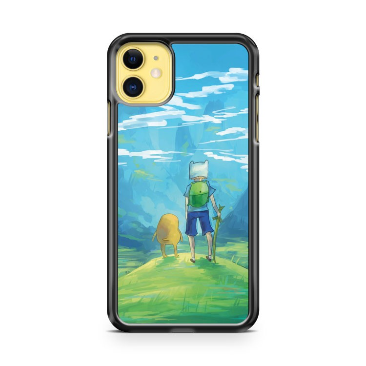 Adventure Time Finn And Jake Painting iPhone 11 Case Cover | Overkill Inc.
