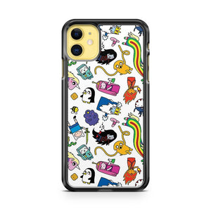 Adventure Time Pattern All Characters iPhone 11 Case Cover | Overkill Inc.