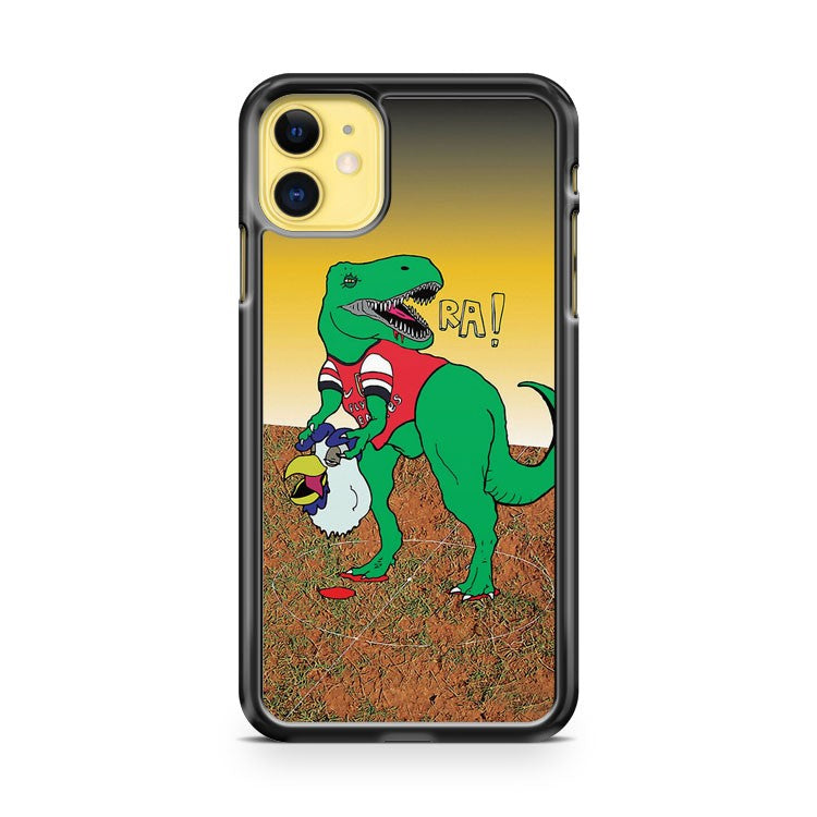 Arsenal Gunnersaurus Vs Chirpy iPhone 11 Case Cover | Overkill Inc.
