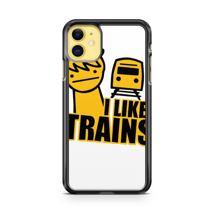 Asdf I Like Trains Video Movie Funny iPhone 11 Case Cover | Overkill Inc.