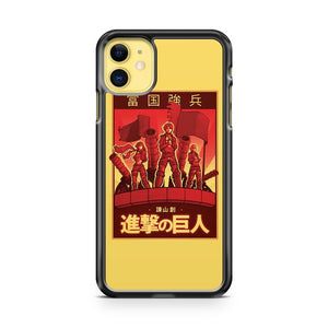 Attack On Titan Propaganda Poster iPhone 11 Case Cover | Overkill Inc.