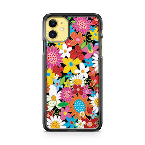 Colorful Whimsical Spring Flowers Garden iPhone 11 Case Cover | Overkill Inc.