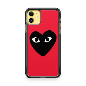 Comme Des Garcons Black And Red iPhone 11 Case Cover | Overkill Inc.