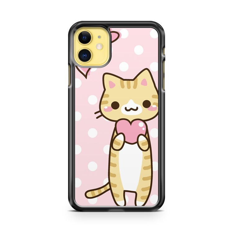 Cute Heart Kitty iPhone 11 Case Cover | Overkill Inc.