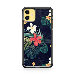 Dark Tropical Flowers iPhone 11 Case Cover | Overkill Inc.