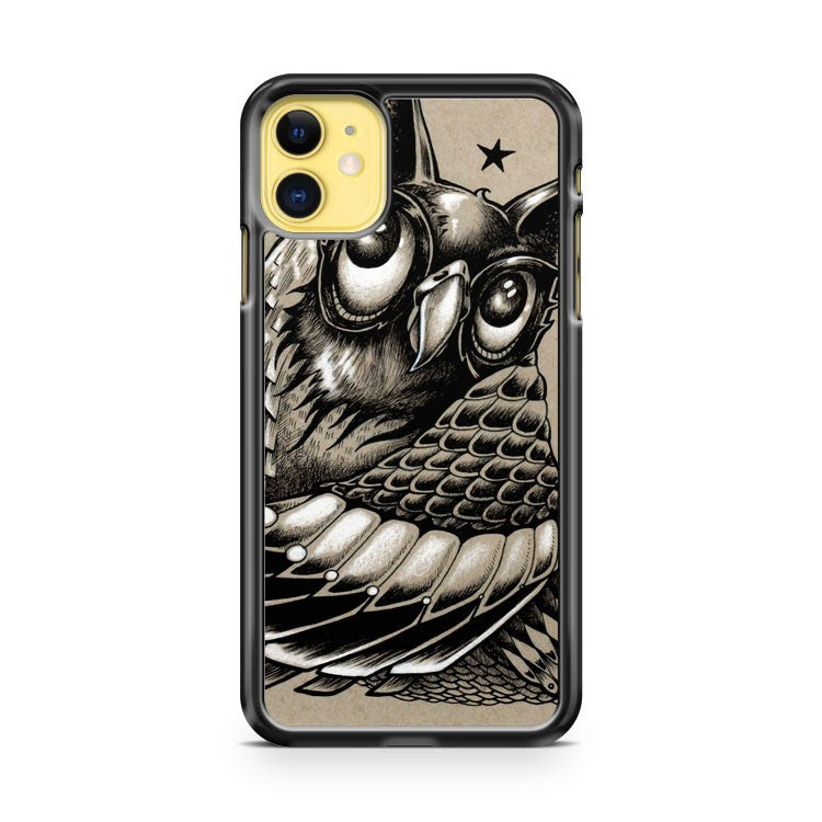 Decorative Owl iPhone 11 Case Cover | Overkill Inc.