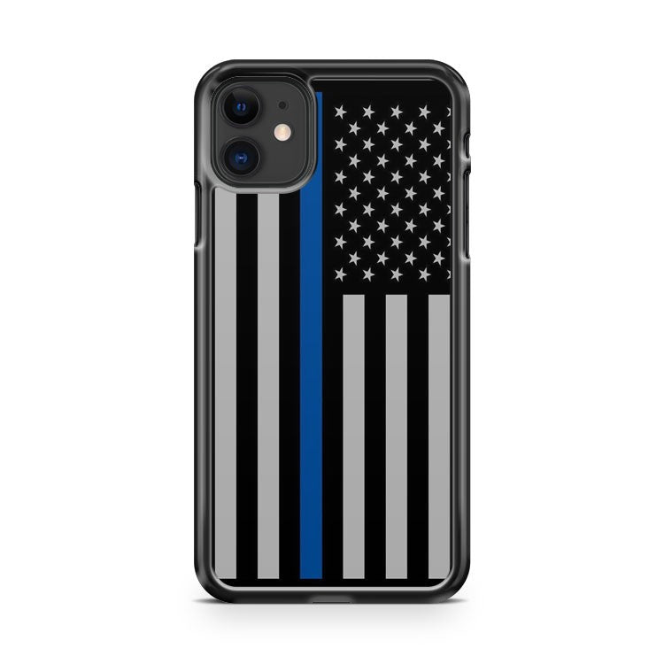 American Flag Police Thin Blue Line Usa iPhone 11 Case Cover | Overkill Inc.