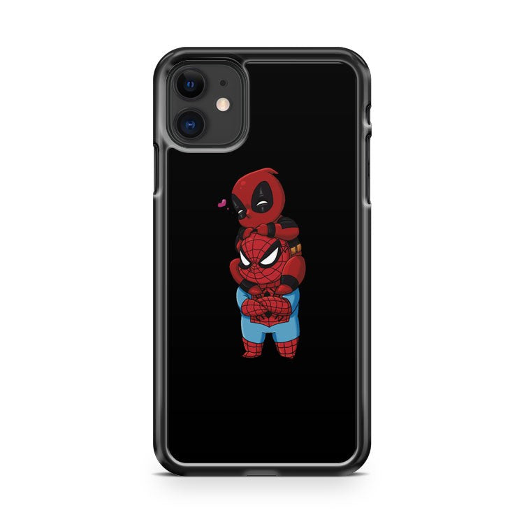 Deadpool And Spiderman Chibis iPhone 11 Case Cover | Overkill Inc.