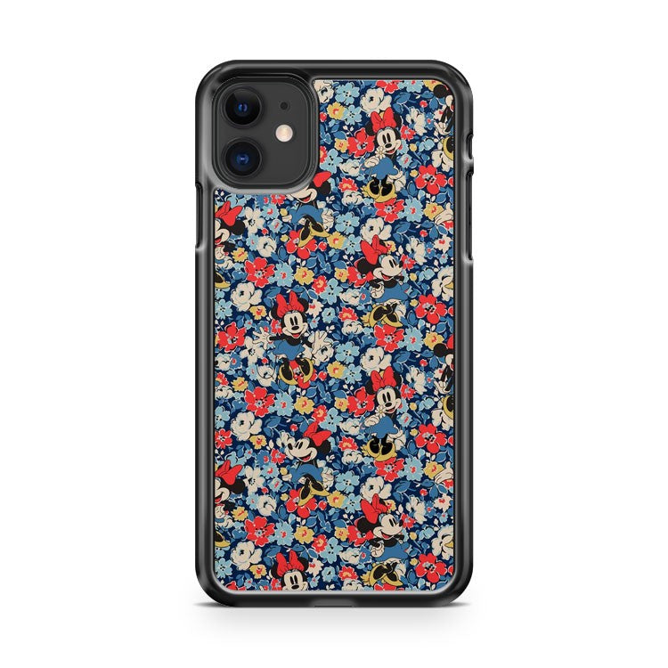 Disney Floral Flower Minnie Pattern iPhone 11 Case Cover