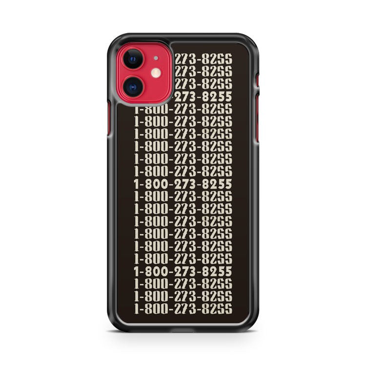1 800 273 8255 Logic And Juanes iPhone 11 Case Cover | Overkill Inc.