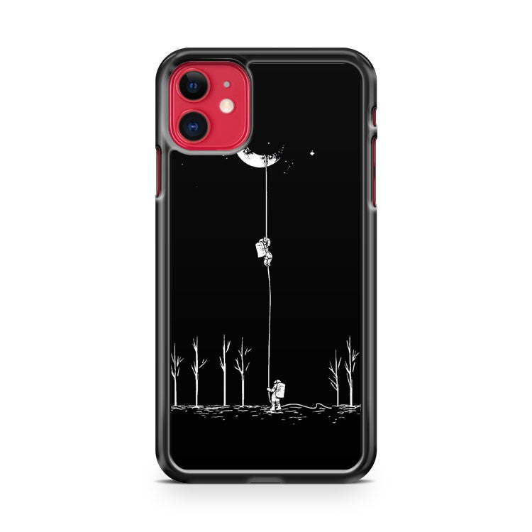 Astronauts Climbing The Moon iPhone 11 Case Cover | Overkill Inc.