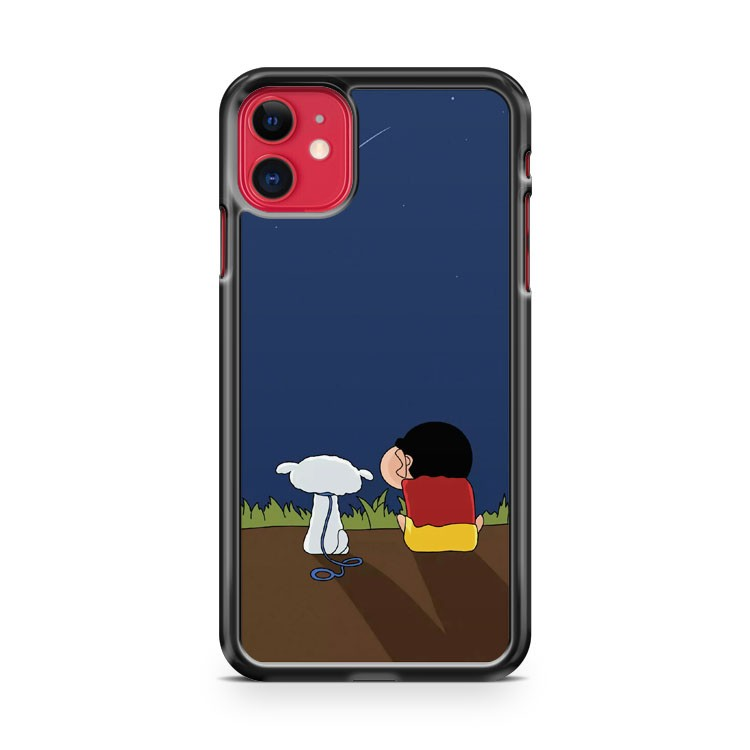 Crayon Shin Chan And Shiro iPhone 11 Case Cover | Overkill Inc.