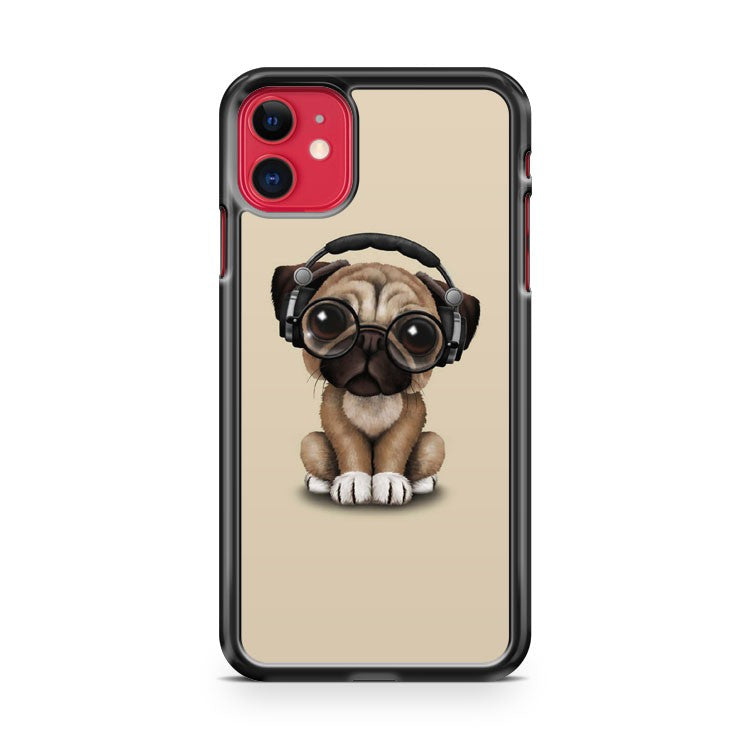 Cute Pugs With Glasses iPhone 11 Case Cover | Overkill Inc.