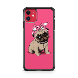 Cute Puppy Pug Dog iPhone 11 Case Cover | Overkill Inc.