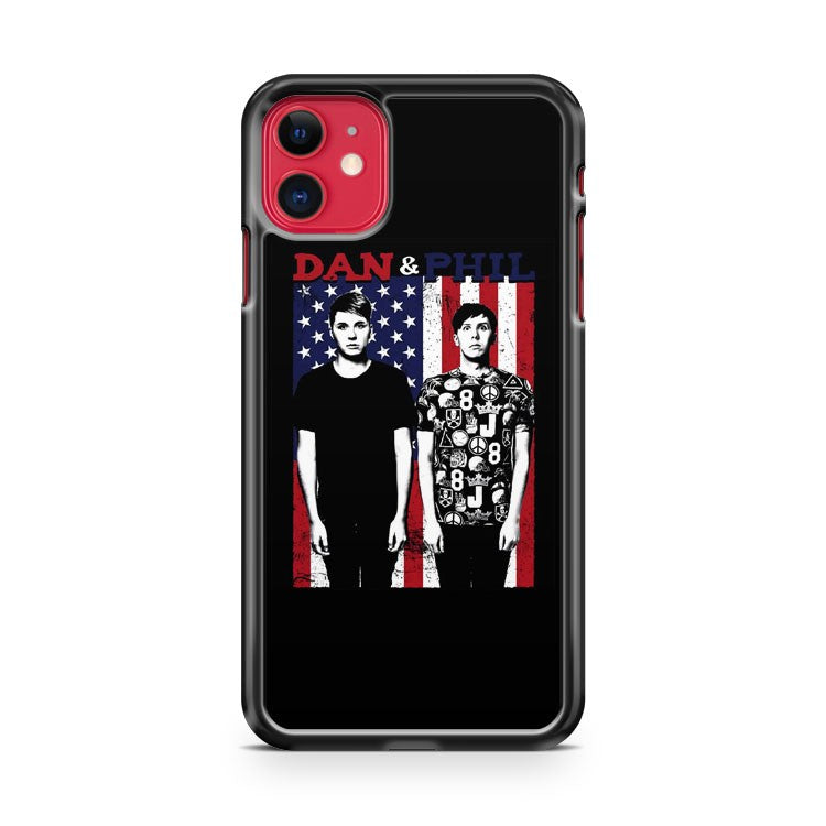 Dan And Phil American Flag iPhone 11 Case Cover | Overkill Inc.